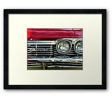Chevrolet Impala Grill Framed Print