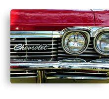 Chevrolet Impala Grill Canvas Print