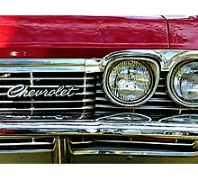 Chevrolet Impala Grill Photographic Print