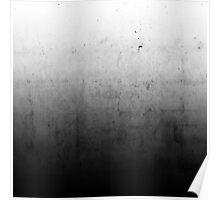 Black Ombre on Concrete Texture Poster