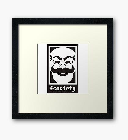 Fsociety Framed Print