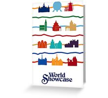 World Showcase Pavilions Greeting Card