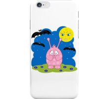 Scared cute pink monster iPhone Case/Skin
