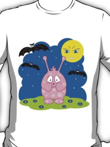 Scared cute pink monster T-Shirt