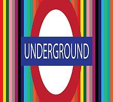 London Underground Phone Case by ArtfulDoodler