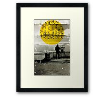 STREET WITH A VIEW Framed Print