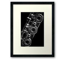 Flute b&w 9856 Framed Print
