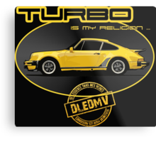 DLEDMV - Turbo is my religion Metal Print