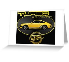 DLEDMV - Turbo is my religion Greeting Card