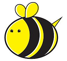 Cute little bumble fat bee Photographic Print