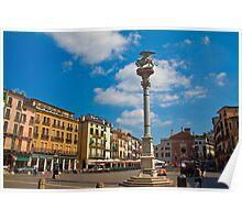 Italy. Padua. Piazza dei Signori. Poster