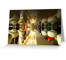 The World Upside Down - City Life Greeting Card