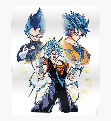 Goku and Vegeta fusion Poster