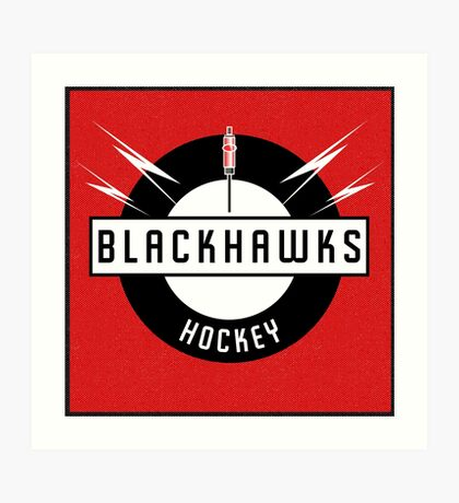 Blackhawks Hockey Art Print
