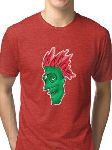 Crazy Man Drawing  Tri-blend T-Shirt