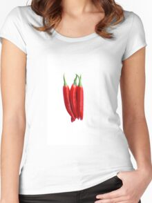 Chili Pepper Women's Fitted Scoop T-Shirt
