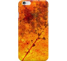 Fall maple leaf texture iPhone Case/Skin