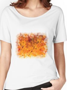 Fall maple leaf texture Women's Relaxed Fit T-Shirt