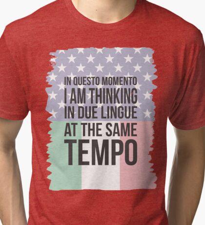 Thinking in Due (Yank Version) Tri-blend T-Shirt
