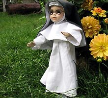 Little Theresa the Child Nun in Our Garden by Dennis Melling