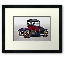 1919 Ford Model T Roadster 'Rear View' Framed Print