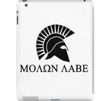 Molon lave - Spartan warrior iPad Case/Skin