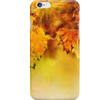 Fall maple leaves iPhone Case/Skin