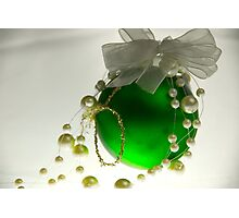 Green Bauble Photographic Print