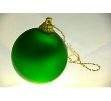 Green Bauble Alone Photographic Print
