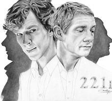 Sherlock & John by Cécile Pellerin