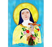 St Theresa - The Lady of the Roses Photographic Print