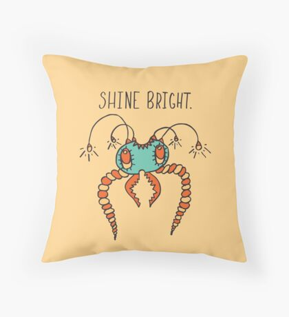 Shine Bright Illustration Throw Pillow