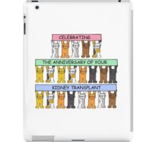 Celebrating the anniversary of your kidney transplant. iPad Case/Skin
