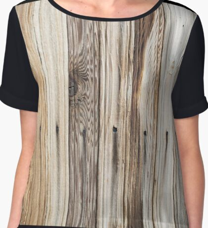 Bright background of wooden planks Chiffon Top
