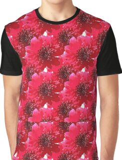 Natural Flowers Series - Red & Black Graphic T-Shirt