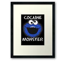 Cocaine Monster Framed Print