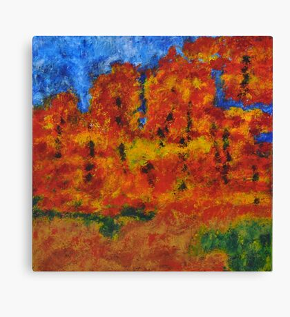 032 Abstract Landscape Canvas Print