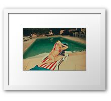 American Blonde Beauty 9048 Framed Print