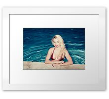 American Blonde Beauty 9152 Framed Print