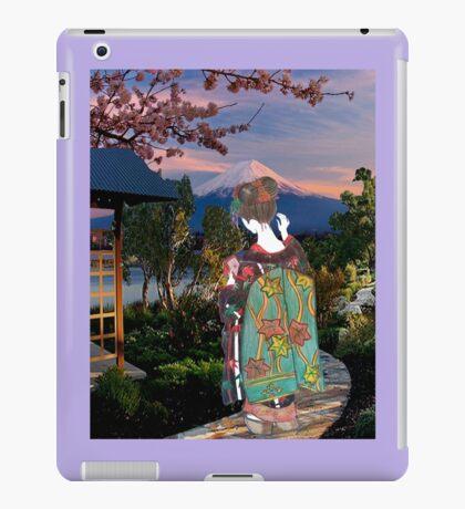 Geiko in a Japanese Landscape iPad Case/Skin