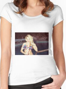 American Blonde Beauty 9198 Women's Fitted Scoop T-Shirt