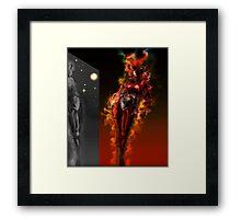 Machine Nightmare {Red} [ Fantasy Figure Illustration ] Framed Print