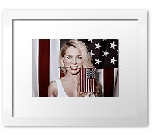 American Blonde Beauty 9234 Framed Print