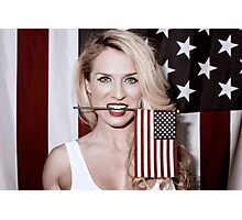 American Blonde Beauty 9234 Photographic Print