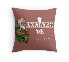 Sigmund Freud - Analyze Me Throw Pillow