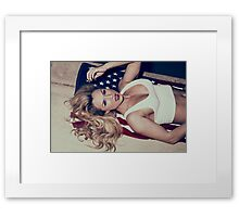 American Blonde Beauty 9336 Framed Print
