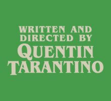 Written and Directed by Quentin Tarantino (original) Kids Clothes