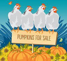 Pumpkin Perch by bluegirldesign