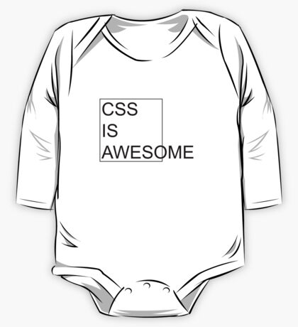 CSS Is Awesome One Piece - Long Sleeve