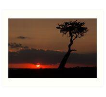 Mara Sunset Art Print